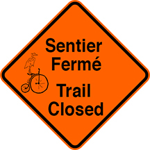 Trail Closed for the Spring Thaw and for Repairs