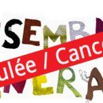 L'assemblée générale annuelle est annulée