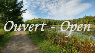 Le sentier est officiellement ouvert – Considérations COVID