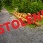 Wooden Timbers Stolen from the Trail